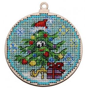 Набор для вышивки крестом Alisena 5534 Новогодняя – Ёлочка фото