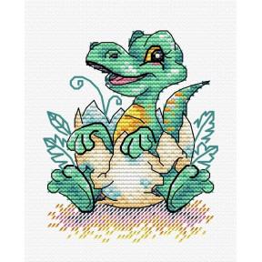Набор для вышивки крестом МП Студия  М-376 Малыш динозавр