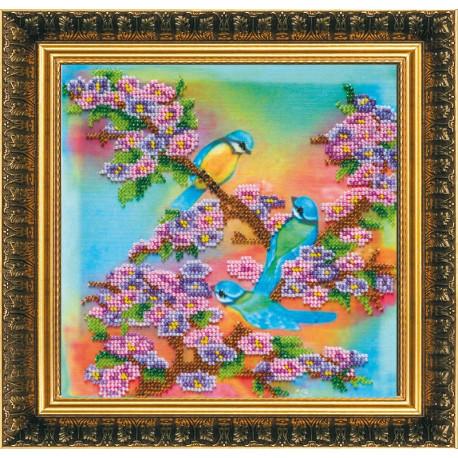 Набор для вышивания бисером Абрис Арт АВ-082 Апрель фото
