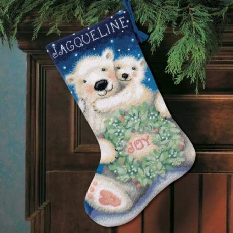Набор для вышивания Dimensions 72-109140 Polar Bear Joy Stockin