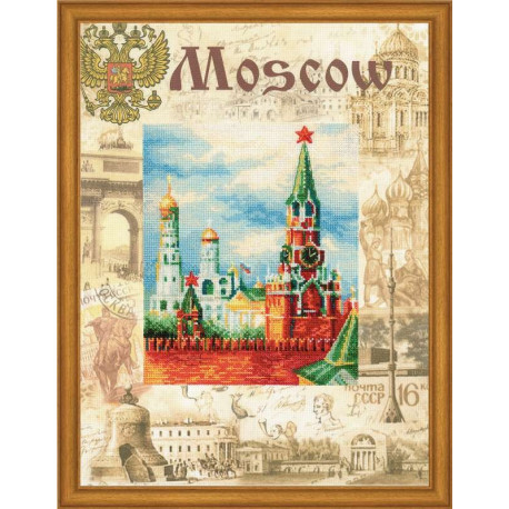 Набор для вышивки крестом Риолис РТ-0021 Москва.Города мира фото