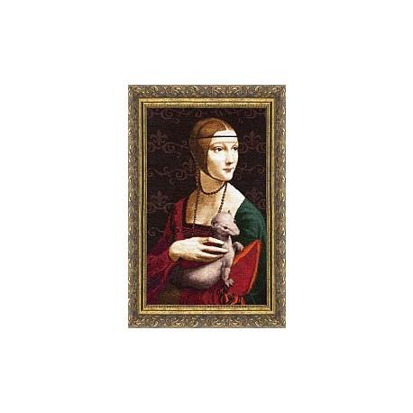 Набор для вышивки Золотое Руно МК-016 Дама с горностаем фото