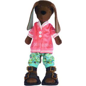 Набор для шитья мягкой игрушки ZooSapiens М3047 Песик Кожаный Носик