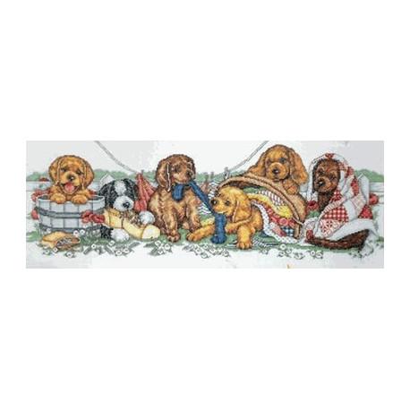 Набор для вышивания Design Works 2308 Puppy Row Dog фото