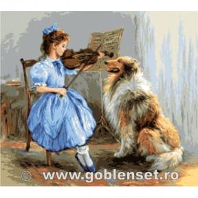 Набор для вышивания гобелен  Goblenset  G1086 Урок скрипки