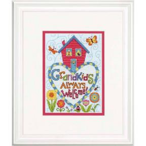 Набор для вышивки крестом Dimensions 70-65188 Grandkids фото