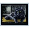 Набор для вышивки крестом Золотое Руно К-009 Черный кот фото