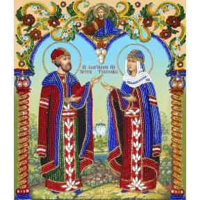 Набор для вышивания бисером  Изящное Рукоделие НВ-002 Петр и Феврония
