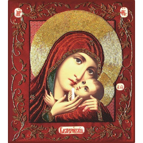 Набор для вышивания бисером Изящное Рукоделие БП-114 Богородица Касперовская