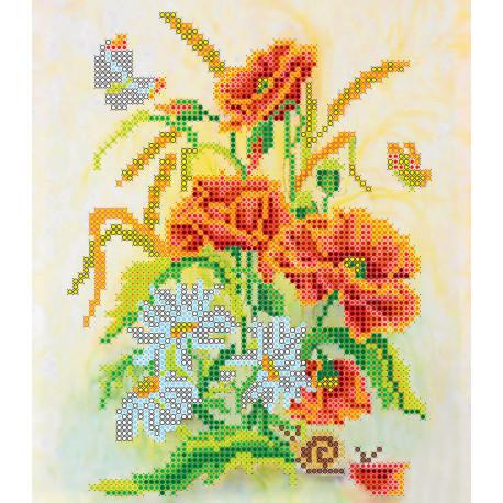 Схема для вышивания бисером Абрис Арт АС-002 Букет фото