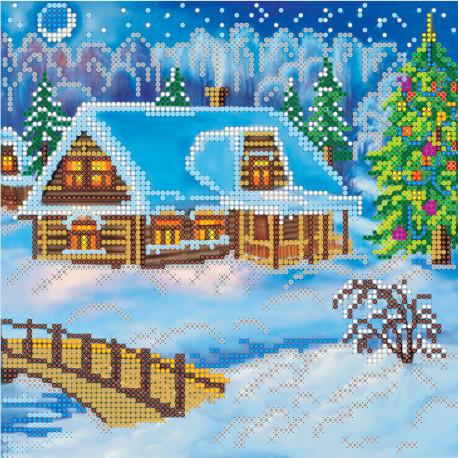 Схема для вышивания бисером Абрис Арт АС-004 Вечер Рождества