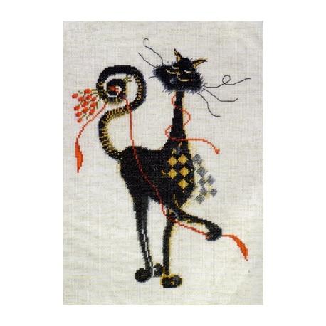 Набор для вышивания Design Works 2462 Sebastian Rose Cat фото