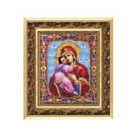 Набор для вышивания бисером Б-1007 Бож.Матерь Владимирская фото