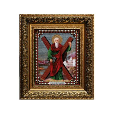 Набор для вышивания бисером Б-1020 Икона Андрея Первозванного