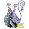 Набор для вышивания Design Works 2490 Cat Pack фото
