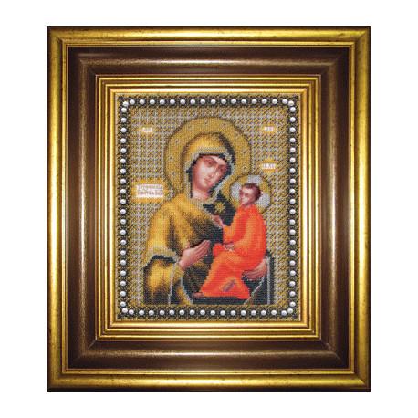 Набор для вышивания бисером Б-1079 Божья Матерь Тихвинская фото