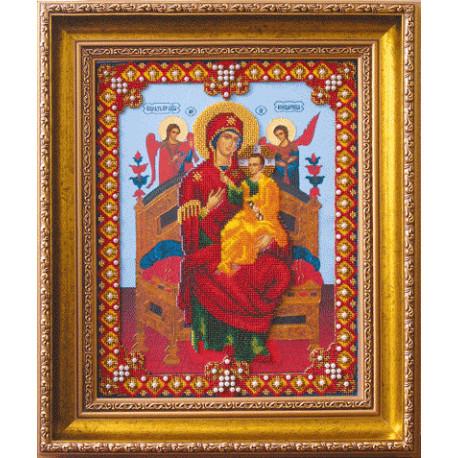 Набор для вышивания Б-1107 Икона Божьей Матери Всецарица фото