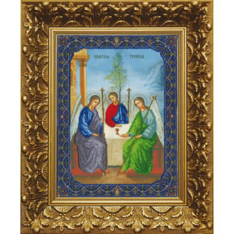 Набор для вышивания бисером Б-1039 Икона пресвятой Троицы фото