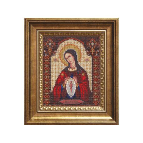 Набор для вышивания бисером Б-1096 Икона Помощница в родах фото