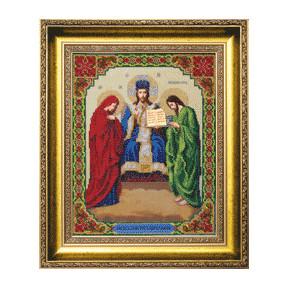 Набор для вышивания бисером Б-1115 Иисус Христос Царь Славы