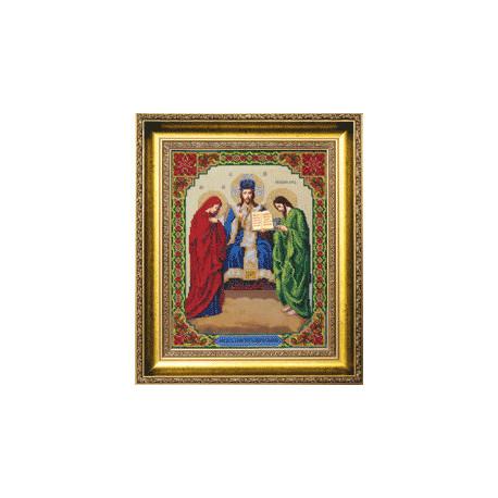 Набор для вышивания бисером Б-1115 Иисус Христос Царь Славы фото