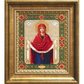 Набор для вышивания бисером Б-1128 Покров Пресвятой Богородицы