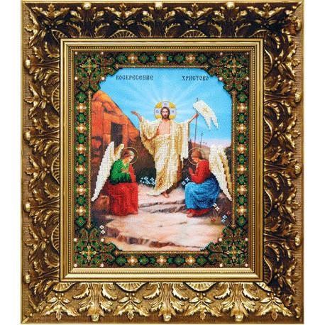 """Набор для вышивания бисером Б-1057 Икона""""Воскресение Христово"""