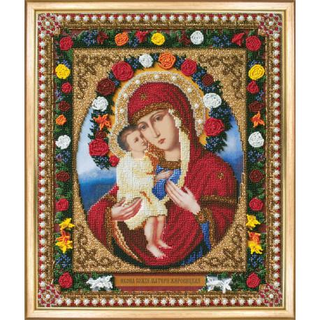 Набор для вышивания Б-1082 Икона Божьей Матери Жировицкая фото
