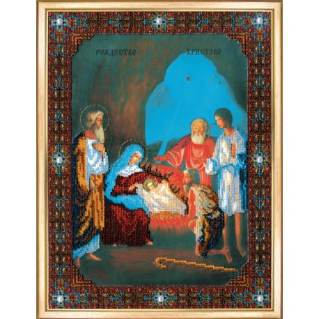 """Набор для вышивания бисером Б-1046 Икона """"Рождество Христово"""