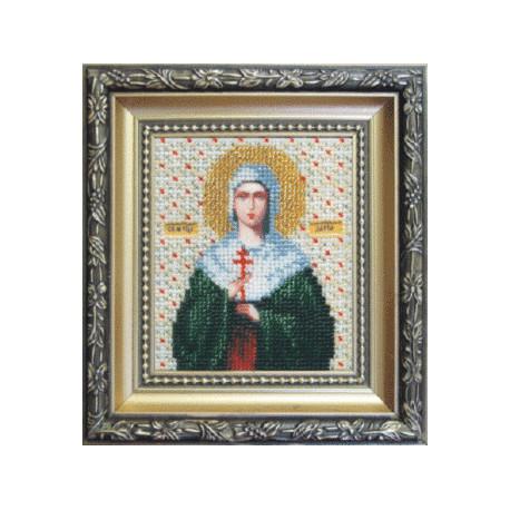 Набор для вышивания бисером Б-1026 Икона Св. Муч. Дарьи фото