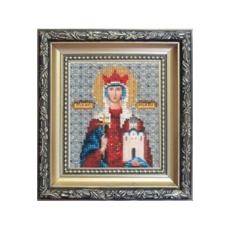 Набор для вышивания бисером Б-1041 Икона Св.муч.Людмилы фото