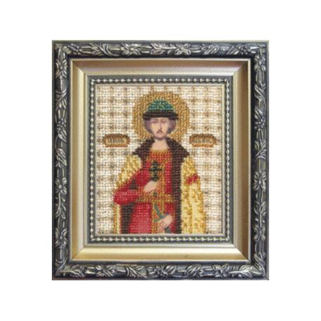 Набор для вышивания бисером Б-1065 Икона великого князя Игоря