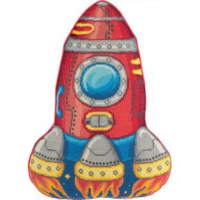 """Набор для вышивки крестом Panna """"Подушка. Ракета"""" ПД-7013 фото"""