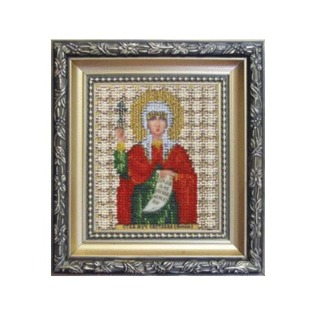 Набор для вышивания Б-1073 Икона св. муч.Светланы(Фотины) фото