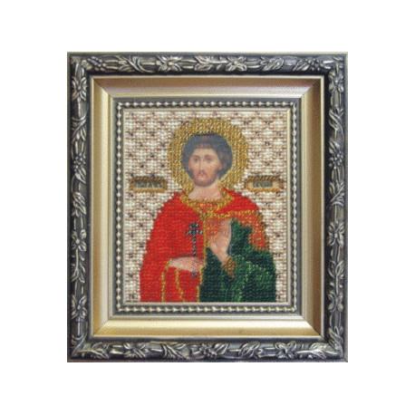 Набор для вышивания Б-1077 Икона святого мученика Евгения фото