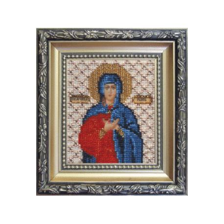 Набор для вышивания бисером Б-1072 Икона святой мученицы Раисы