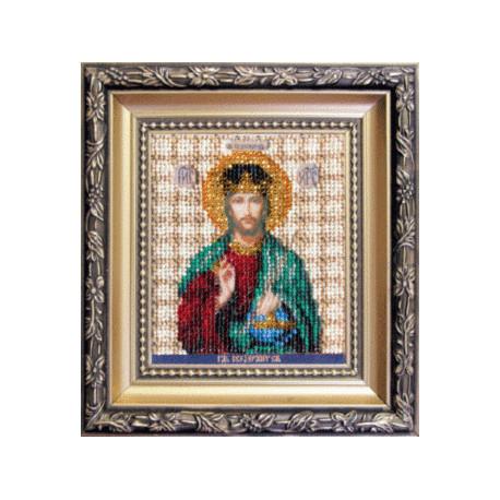 Набор для вышивания бисером Б-1119 Икона Господа Иисуса Христа