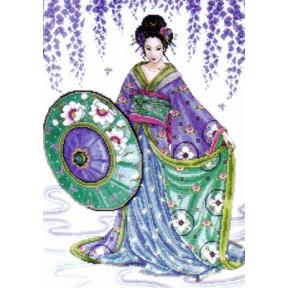 Набор для вышивания  Design Works 2551 Garden Geisha