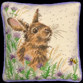 Набор для вышивания крестом Bothy Threads подушка квадрат Amongst The Foxgloves Tapestry THD8