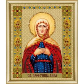 """Набор для изготовления картины со стразами Чарівна Мить """"Икона святой пророчицы Анны""""  КС-120"""