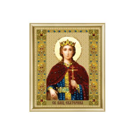 """Набор для изготовления картины со стразами Чарівна Мить """"Икона святой великомученицы Екатерины""""  КС-127"""