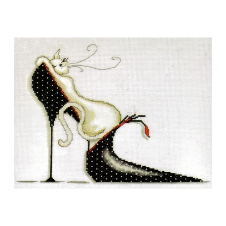 Набор для вышивания Design Works 2552 Polka Dot Shoe Kitty фото