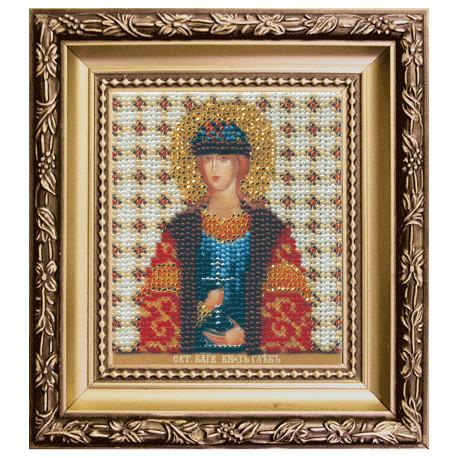 Набор для вышивания бисером Б-1147 Икона св.блгв.князя Глеба