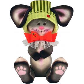 Набор для шитья мягкой игрушки ZooSapiens Мышка с бантиком М4014