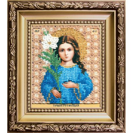"""Набор для вышивания Б-1175 Икона Божьей Матери""""Трилетствующая"""