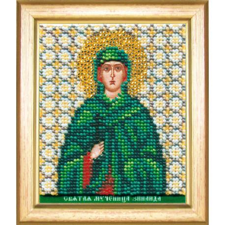 Набор для вышивания бисером Б-1145 Икона св.муч.Зинаиды фото