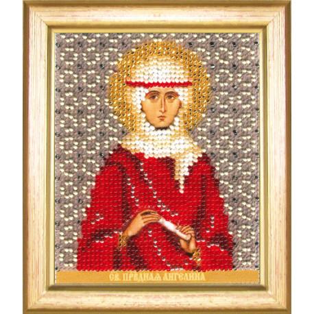 Набор для вышивания бисером Б-1176 Икона св.праведной Ангелины