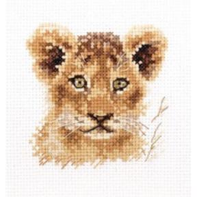 """Набор для вышивки крестом Алиса """"Животные в портретах. Львенок""""  0-194"""