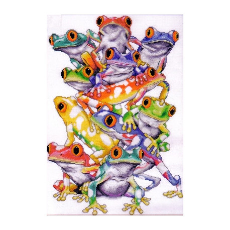 Набор для вышивания Design Works 2599 Frog Pile фото