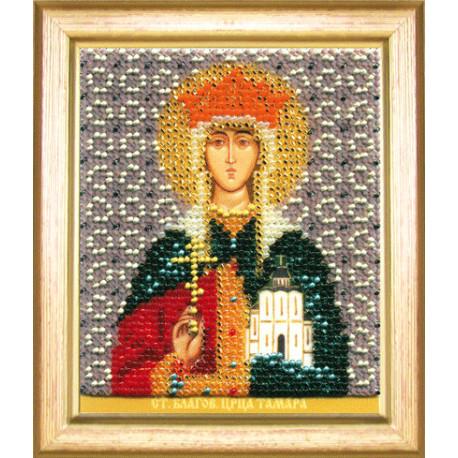 Набор для вышивания бисером Б-1181 Икона св.блгв.царицы Тамары
